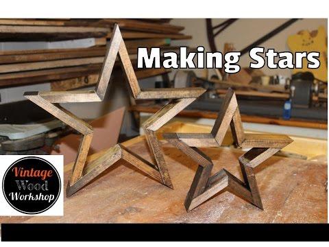 Make Your Own Wooden Stars- Vintage Wood Workshop