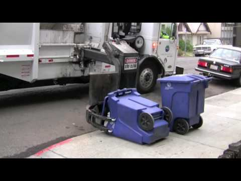 Side-Loading Garbage Truck