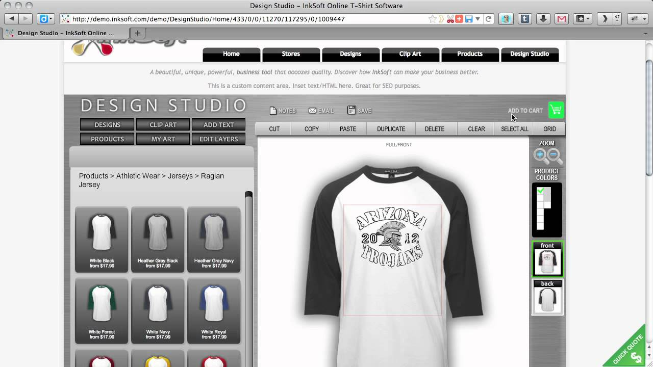 Online t shirt designer software t shirt designs for Online software design tool