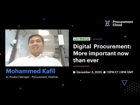 Live Webinar on Digital Procurement: More important now than ever