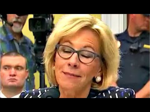Betsy DeVos  MISERABLY FAILS When she is Asked About Protecting LGBT Students 5/25/2017