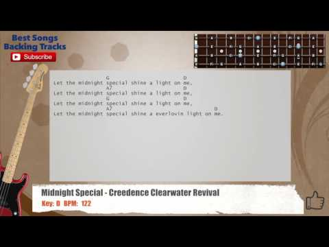 The Midnight Special - Creedence Clearwater Revival Bass Backing Track with chords and lyrics