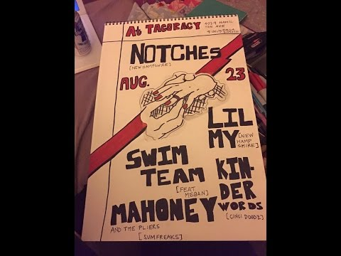 kinder words,mahony and pliers,little my,notches and swim team@northside yacht club 8/23/15