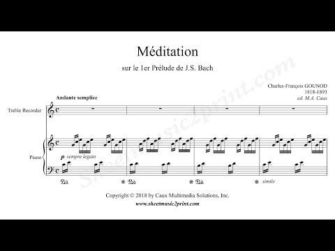 Gounod : Ave Maria - Treble Recorder