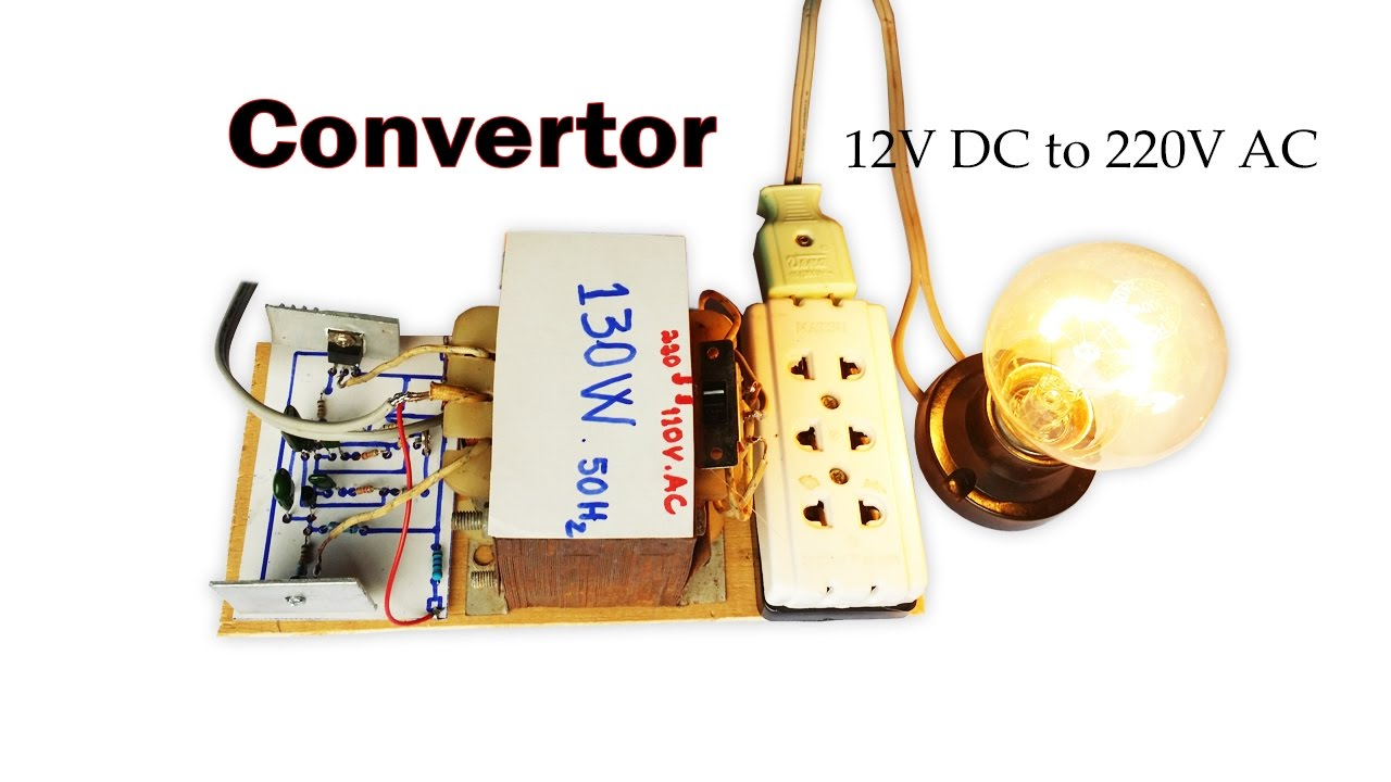 hight resolution of how to create easy converter circuit dc 12v to 110v ac and 220v ac