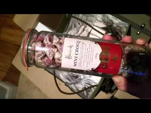 Opening Harrods  Christmas Hamper 2015