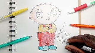 SKETCH SUNDAY #30 How To Draw Stewie Griffin - Family Guy - DeMoose Art
