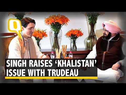 Amarinder Singh Raises 'Khalistan' Issue with Canada PM Trudeau