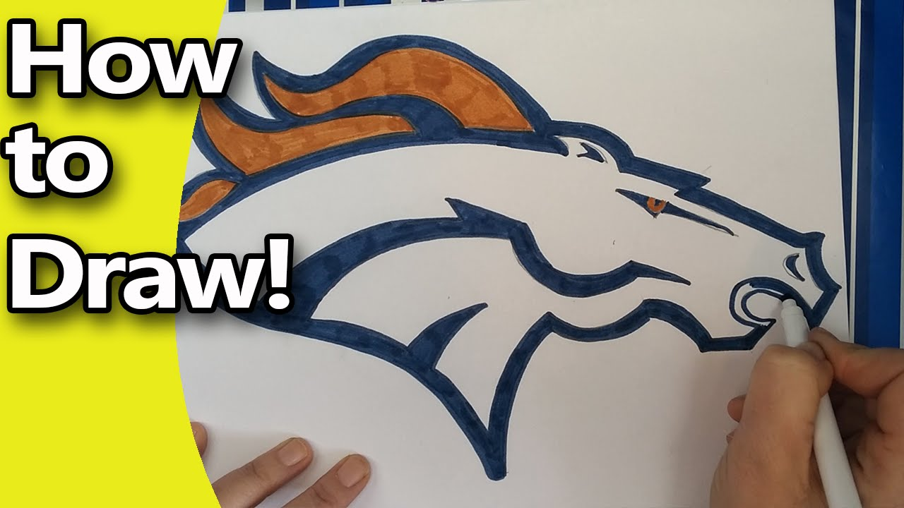 How to draw the denver broncos logo step by step by hand youtube biocorpaavc