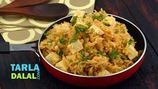 Paneer Pulao / Pressure Cooker Recipe / Quick Paneer Rice Recipe by Tarla Dalal