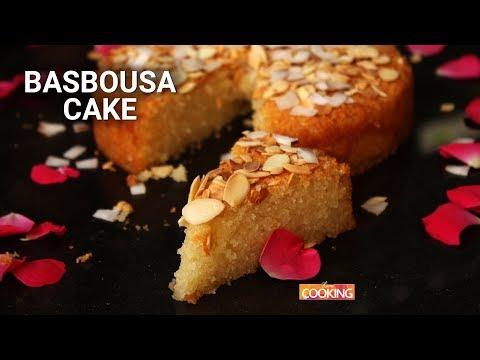 Basbousa Cake  Eggless Egyptian Semolina Cake Recipe  Ventuno Home Cooking