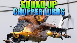 BF4 Squad Up - Chopper Support Team Go! | Battlefield 4 Helicopter Gameplay