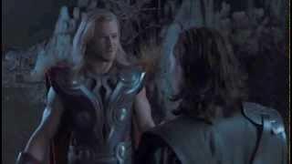 Мстители (2012) - Локи и Тор после побега