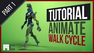 Humanoid Mech Tutorial - Animating Procedural Walk (3ds Max CAT)