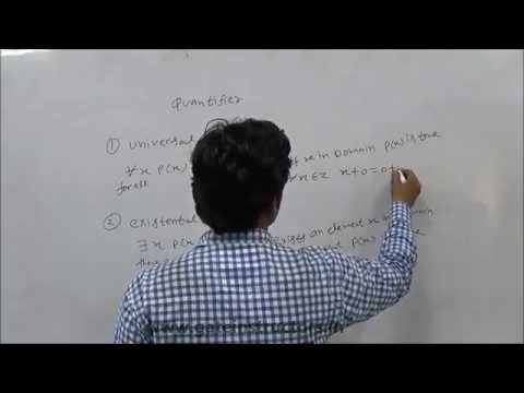 Universal Quantifier, Existential Quantifier, Inference Rule for Quantifiers, First Order Logic | 20
