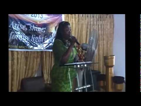 Maame felicia  on a Talk Show @ Power Impact Ministry Accra