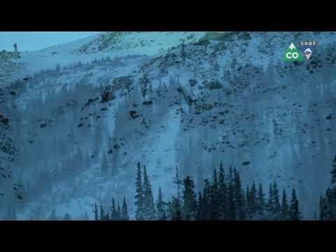 Controlled Avalanche Using Gazex - Loveland Pass, US 6, Colorado