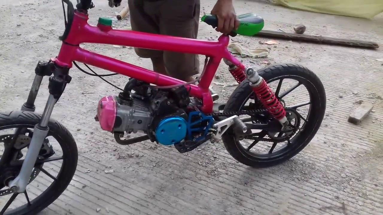Keren Bodi Sepeda Mesin Motor Youtube