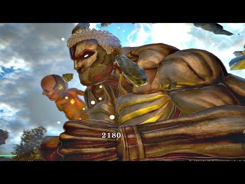 ATTACK ON TITAN 2 - Reiner ARMORED TITAN Gameplay & Female Titan Boss Fight (PS4 PRO)
