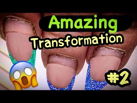 AMAZING TRANSFORMATION: Russian Style Hardware Manicure, Gel Nails Infill & Nail Art For Beginners