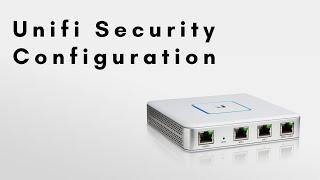 Unifi Security Settings