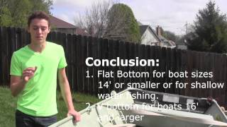 Flat bottom Jon Boat vs V bottom Jon Boat - Hull Pros and Cons - Fishing