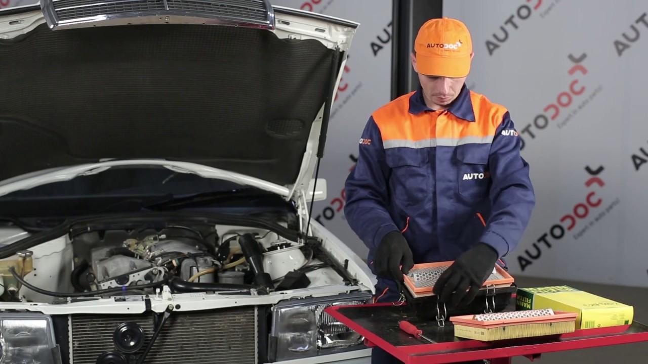 Comment Remplacer Des Filtre  U00e0 Air Sur Une Mercedes
