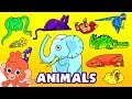 Learn Wild Animals For Kids | Wild Zoo Animals Names and Sounds for Children | Club Baboo