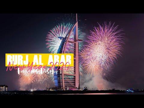 Dubai New Year's Eve 2020 Fireworks – Burj Al Arab