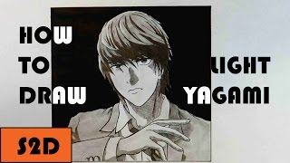 How To Draw Light Yagami (Kira) From Death Note
