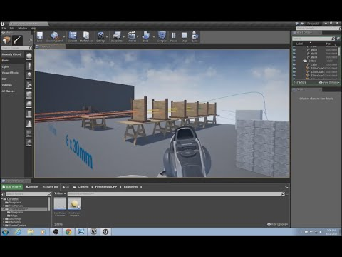 Unreal Engine Tutorial - Bullet Physics / Projectile Physics and Penetration Part 1/5