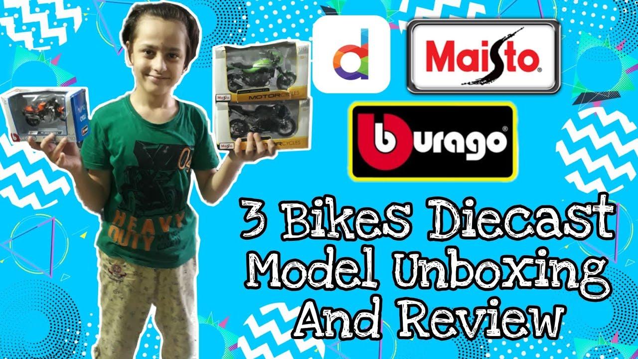 3 Bikes Diecast Model Unboxing And Review   Bekaar Bros   ft. Saad Usman