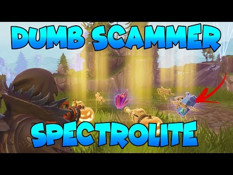 Dumb Scammer Nearly Scams Spectrolite Ore! (Scammer Gets Scammed) Fortnite Save The World