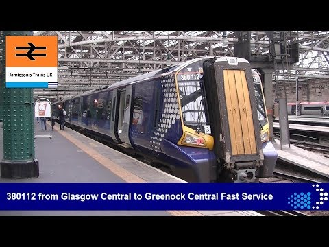 380112 from Glasgow Central to Greenock Central Fast Service