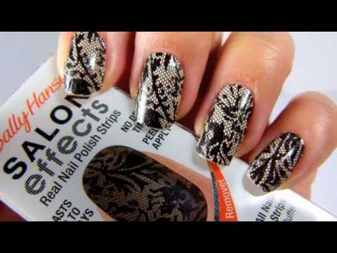 Sally Hansen Salon Effects Tutorial Nail Polish Step By Step Laced Up Youtube