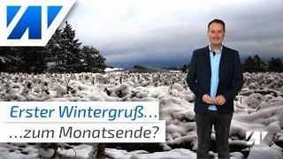 Wintereinbruch zum Monatsende!