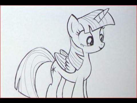 Disegnare twilight sparkle della serie my little pony - Pony da colorare in immagini ...