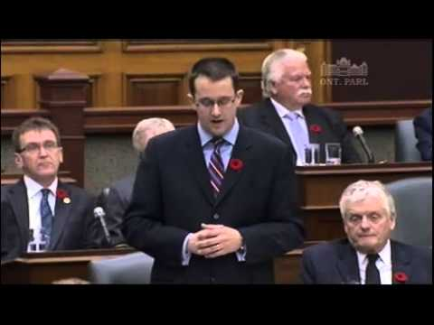 MPP McNaughton Questions Premier on Union Transparency, November 4, 2013