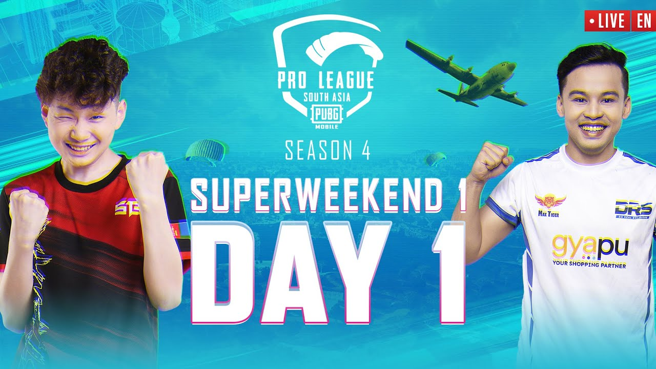 [EN] 2021 PMPL South Asia Superweekend 1 Day 1 | S4 | DRS vs Zeus In the Battlegrounds