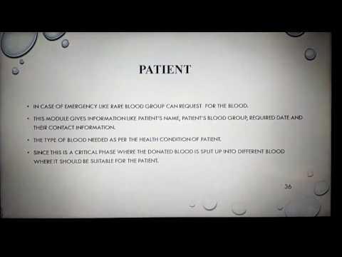 Online blood bank management system