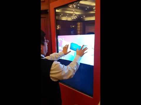 Large Scale Multi Touch Technology Demonstrated at Shenzhen City Business Display
