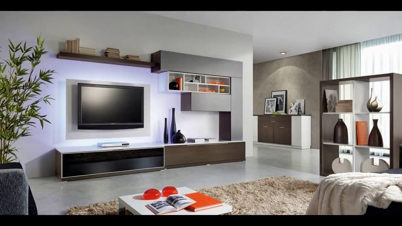 Delicieux Modern TV Wall Unit Design Tour 2018 DIY Small Living Room Installation  Interior Mount Ideas Build