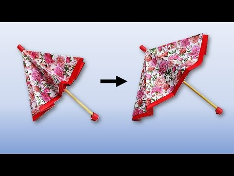 How to make an easy paper umbrella that open and closes - COCO Art&Craft