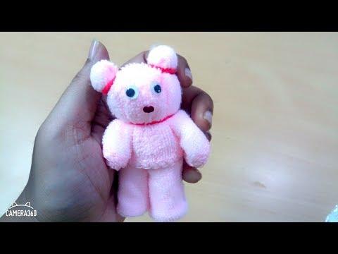 DIY Teddy Bear Art And Crafts Yarn Teddy Bear Napkin Teddy Bear
