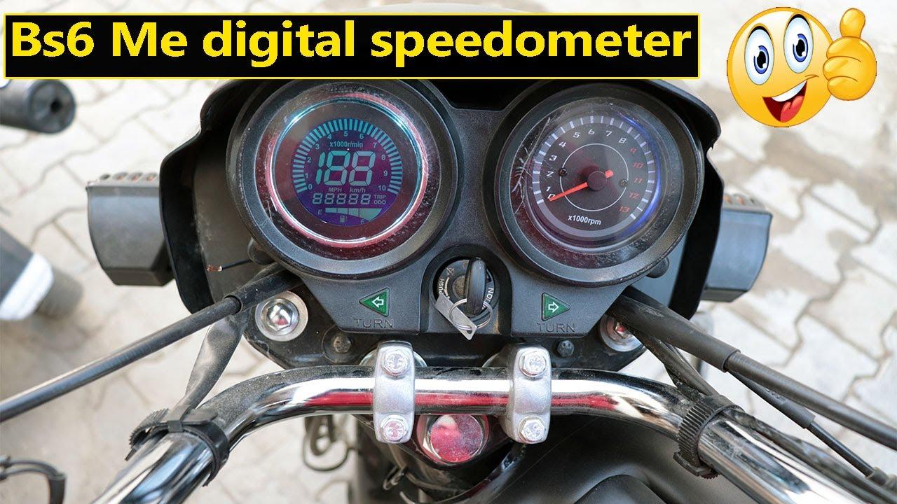 splendor plus bs6 speedometer modification