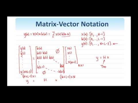 30.   Matrix Vector Notation for Images