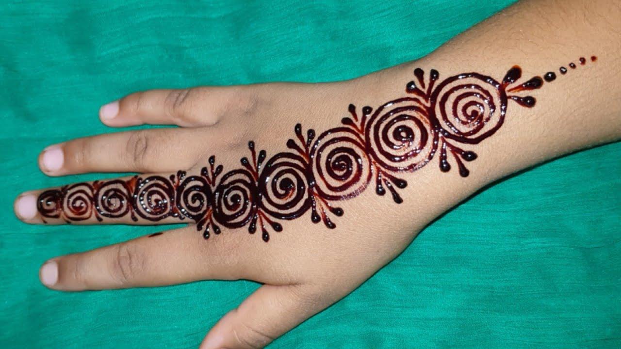 Wow Beautiful Mehndi Design Back Hand Tiki Style With Kids Eid Simple Mehndi Design Easy Henna Youtube