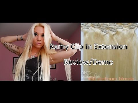 Remy 100 human hair clip in extension review demo youtube pmusecretfo Images