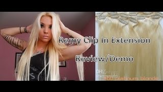 Remy 100% Human Hair Clip In Extension Review & Demo!