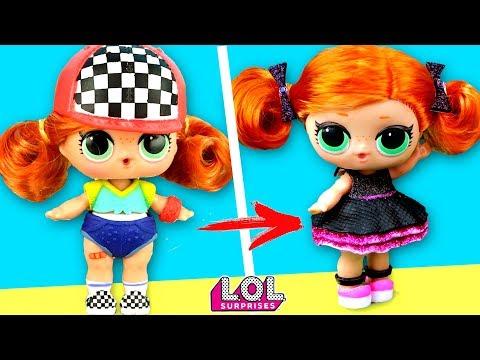 Панки В ШОКЕ! Скейти поменяла стиль и стлала красивая девочка! Мультик куклы лол сюрприз LOL Dolls